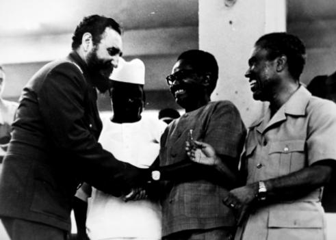 Fidel Castro con Sékou Touré, Agostinho Neto (Angola) y Luis Cabral (Guinea- Bissau) en 1979.