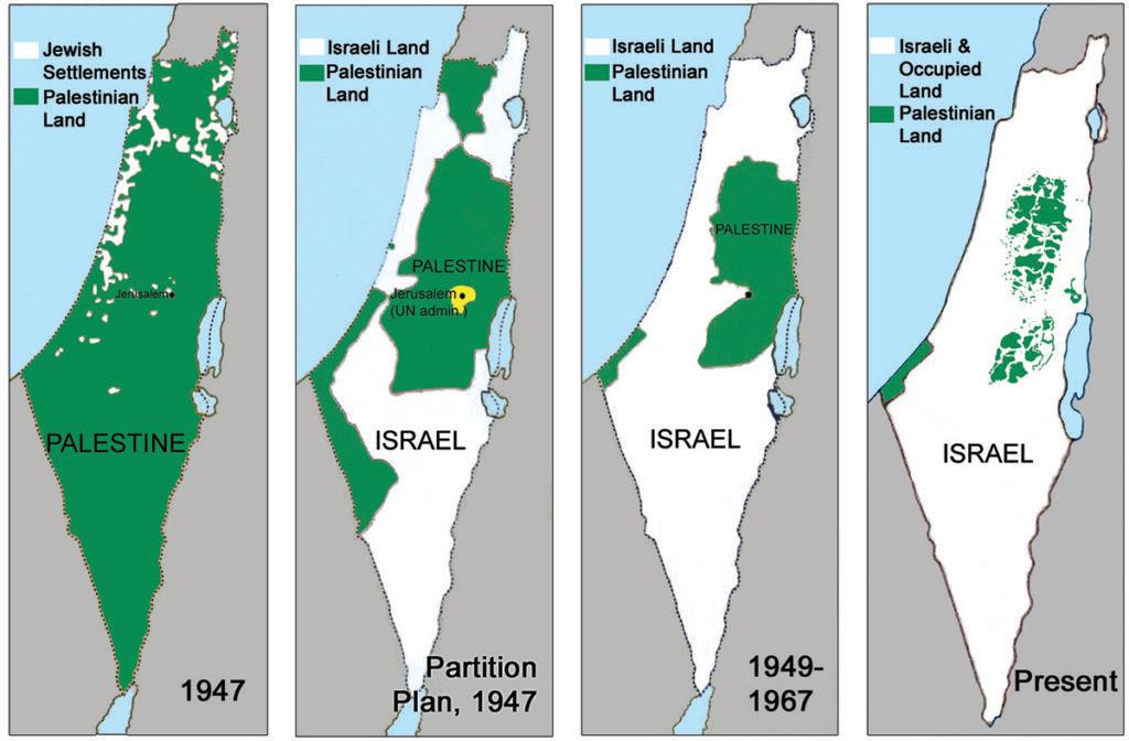 Palestina desde 1947 hasta el presente. Israel