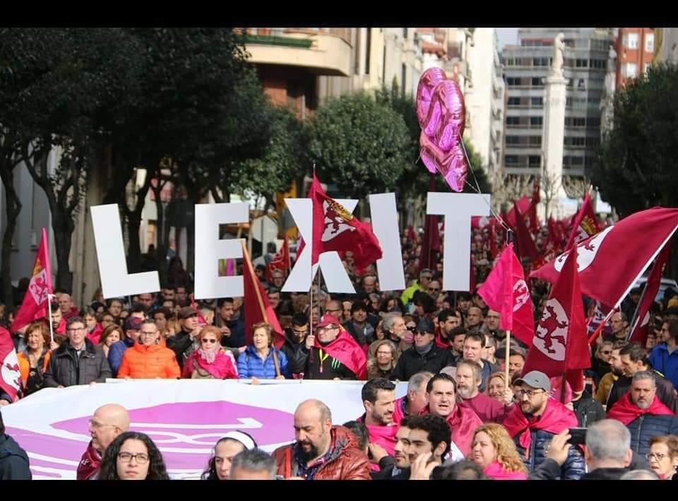 Valoración por parte de la izquierda soberanista leonesa de las históricas movilizaciones del 16 F